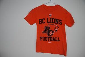 BC Lions Child T-shirt Size 8