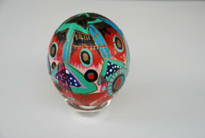 Canadian Artist Toller Cranston (hand-painted ostrich egg)