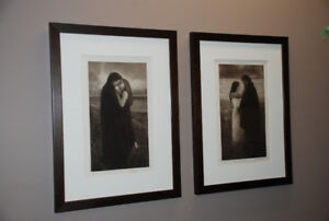 CHRISTMAS GIFT IDEA - Romantic Pair Of Paintings For Sale