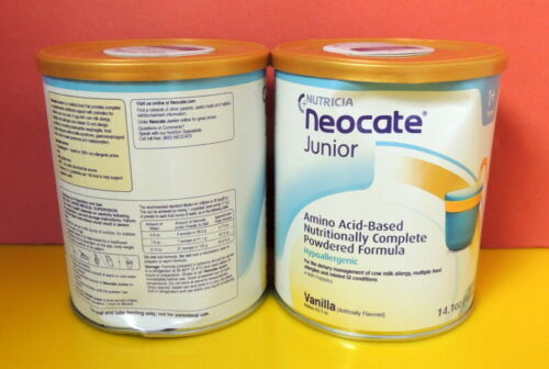 2 cans - Nutricia Junior Jr Vanilla wth Prebiotics 14.1 oz/can - SLIGHTLY DENTED
