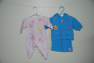 Winnie the Pooh & Piglet clothing Size 0-3 months