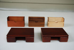 Unusual Wooden Business Card Holders (hand-made, exotic woods, l