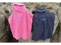 Hooded Surf / Beach Changing Robe Poncho for Adults (£24) & Kids (£16)