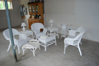 14-PC WHITE WICKER COLLECTION