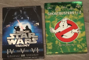 DVD Movie Boxsets- Star Wars, Ghostbusters