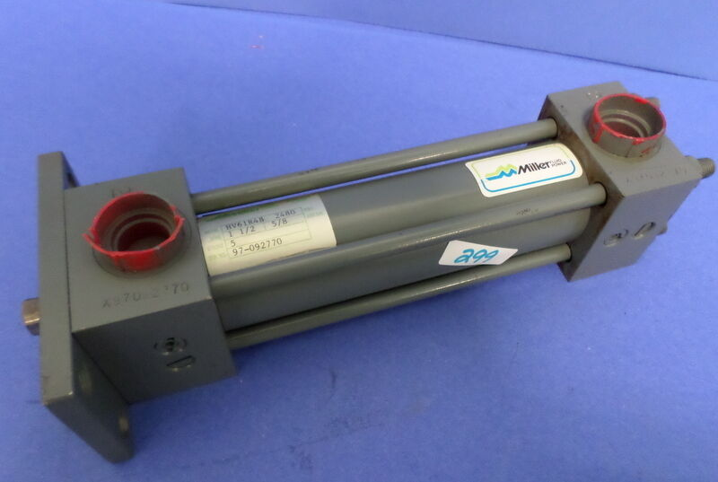 "MILLER, FLUID POWER HYDRAULIC CYLINDER, HV61R4B , 2480 PSI,1 1/2"" BORE,5"" STROKE"