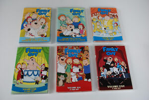"""""""Family Guy"""" DVDs - First Six Seasons (mint condition)"""