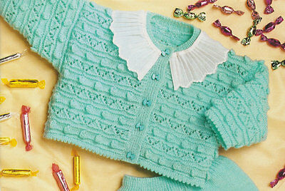 Jumper Bloomers (Pretty Baby Set Cardigan-Dress-Jumper-Bloomers-Bootees 4 ply Knitting Pattern)