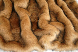 PREMIUM QUALITY COYOTE FAUX FUR, SOLD BY METER