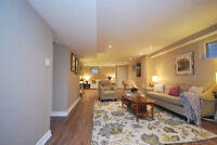 For Lease: Extensively Renovated Lower Level Apartment in House