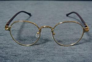 Vintage Fashion Gold Oval Eyeglasses