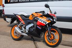 2013 - HONDA CBR125R, EXCELLENT CONDITION, £2,250 OR FLEXIBLE FINANCE TO SUIT