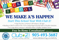 TUTORING - MATH, SCIENCE, FRENCH, ENGLISH & MORE!