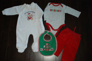 Baby boy Christmas outfit, Size 3-6 months