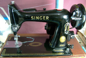 99K SINGER SEWING MACHINE WITH ATTACHMENTS AND CASE ALL METAL