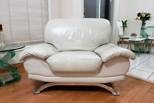 3 Piece, Living Room Couch Set - WHITE