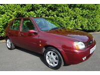 2001 (51) FORD FIESTA GHIA 1.2 5dr, Genuine Low Mileage, Only 27,027 Miles, FSH, New MOT, A/C.