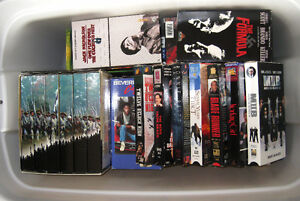 Two boxes VHS movies