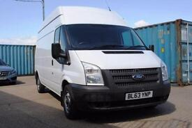 2014 - FORD TRANSIT, LWB, HIGH ROOF, EURO 5, 2.2, 125PS, T300, FLEXIBLE FINANCE
