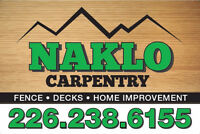 NAKLO CARPENTRY - FENCE AND DECKS