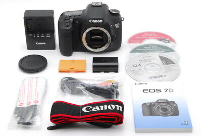 [Mint] Canon EOS 7D 18.0MP Digital SLR Camera Black Body Low Shutter 25k Japan