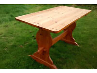 Solid pine refectory table