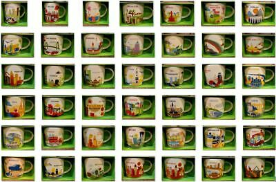 U PICK- Starbucks Mug YOU ARE HERE YAH Collector Series Mugs E-M 14oz new w/SKU