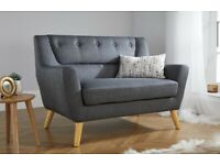 Lambeth 2 Seater Soft Grey Fabric Sofa selling at £150 BNIP these are £429 to buy