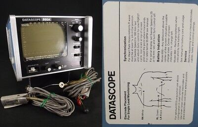 Datascope Corp. 860A PATIENT MONITOR cords medical hospital equipment portable