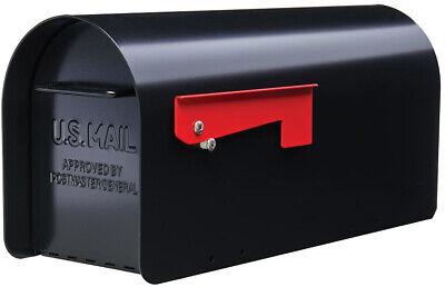 Heavy Duty Mailbox Steel Rural ironside black  post mount gibraltar large