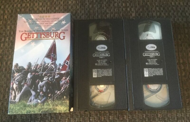 PRE-OWNED GETTYSBURG  (VHS, 1994) VHS CASSETTE TAPE FREE SHIPPING!!! ����l��k!!!