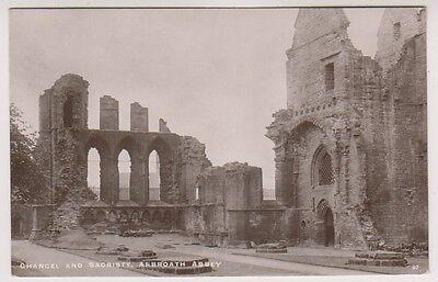 Angus postcard - Chancel and Sacristy, Arbroath Abbey - RP - P/U 1913
