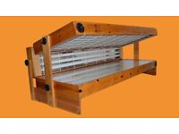 wooden sunbed fitted with brand new tubes