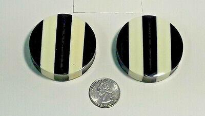 Gauge Organic Horn Plug (Big Gauge Organic Bone/Horn Stripe Plugs 30mm-50mm Huge Lobe Stretch)