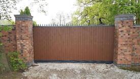 Electric Gate Security Gate Railing Fencing Aluminium Welding Metal Fabrication Construction Work