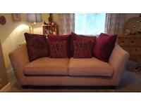 Two large 2 seat sofas