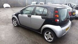 2006 SMART ForFour 1.1 petrol , manual in BLACK+SILVER - BREAKING FOR PARTS - PARTS FOR SALE deliver
