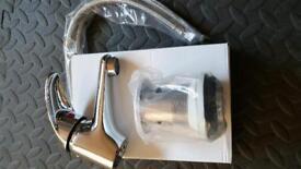 Mono chrome basin mixer tap with waste