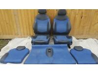 BMW MINI COOPER S HALF LEATHER SEATS BLUE BLACK R50 R52 R53 ONE