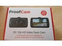Proofcam 106 HD dashcam BNIB
