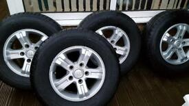 Kia Sorento rims and winter new tyres.