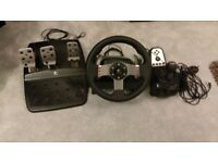 Logitech G27 Steering Wheel + Pedals, Gear Shifter & Box