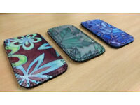 Neoprene Phone Covers stained glass-like design x3