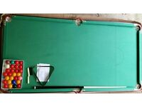 6ft folding pool / snooker table