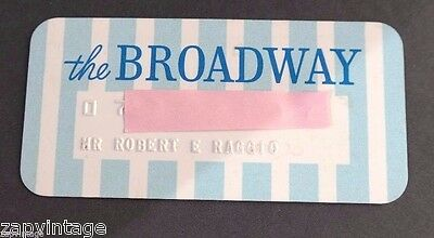 "Vintage RARE ""The Broadway"" CREDIT CARD OLD CHARGE Card"