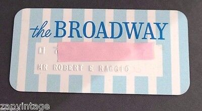 """Vintage RARE """"The Broadway"""" CREDIT CARD OLD CHARGE Card"""