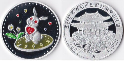 "L3136, Korea ""Rabbit"" Commemorative Coin 10 Won, 2007"