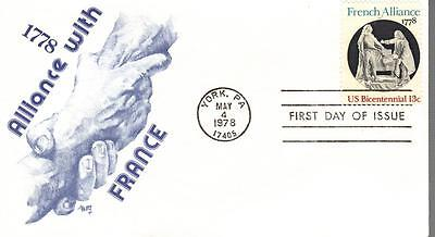 Us Fdc  1753 French Alliance  Marg  17453