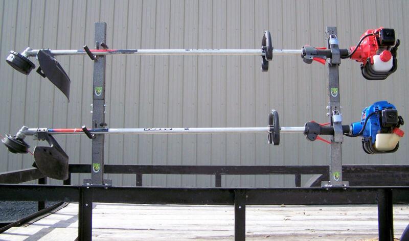 2-Place Lockable Trimmer Landscape Trailer Rack - OPEN  PK-6S/PK-6S2