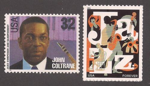 JOHN COLTRANE - JAZZ COMPOSER & SAXOPHONIST - 2 U.S. STAMPS - MINT CONDITION